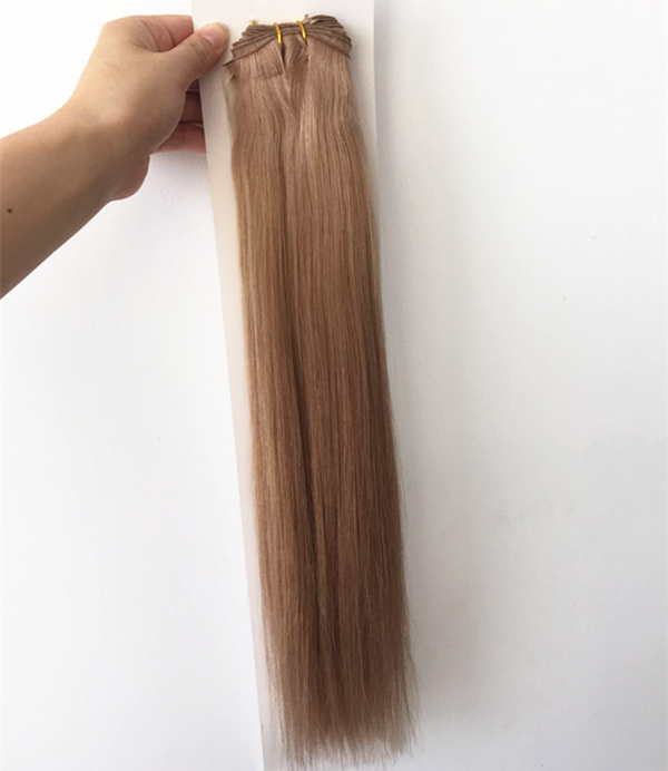 Wholesale hand tied double drawn human hair extension factory QM207